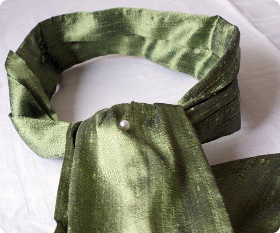 ascott en soie sauvage verte