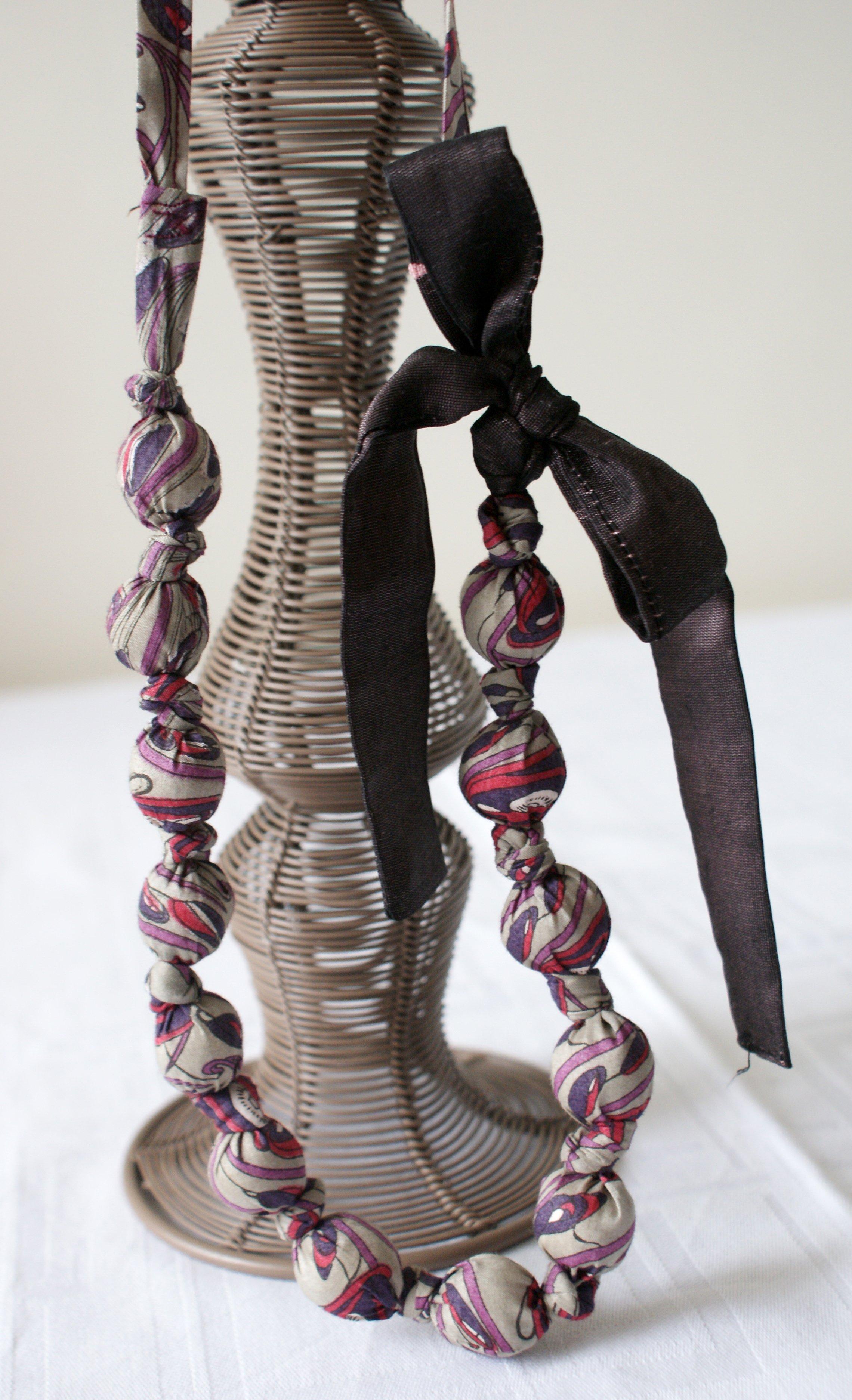Bijoux de tissus liberty