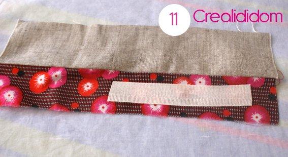 Pochette crochet tissus petit pan étape 11