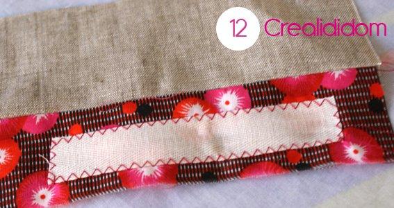 Pochette crochet tissus petit pan étape 12