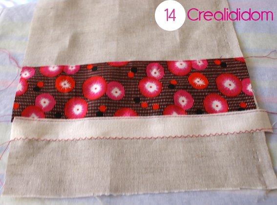 Pochette crochet tissus petit pan étape 14