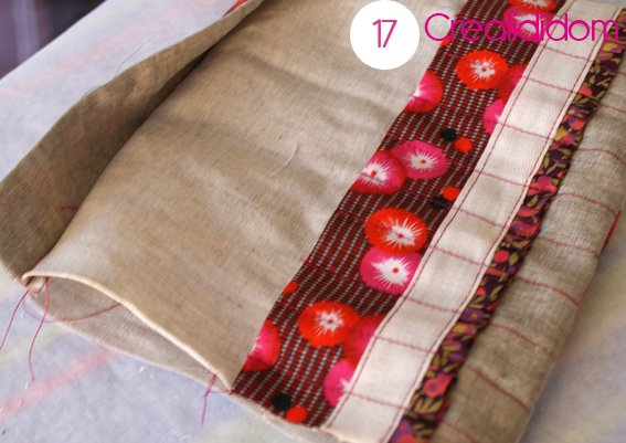 Pochette crochet tissus petit pan étape 17