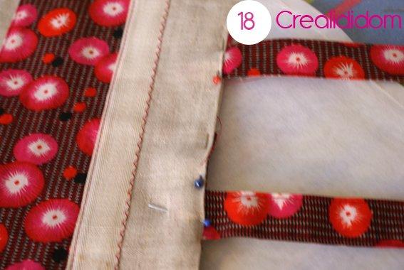 Pochette crochet tissus petit pan étape 18