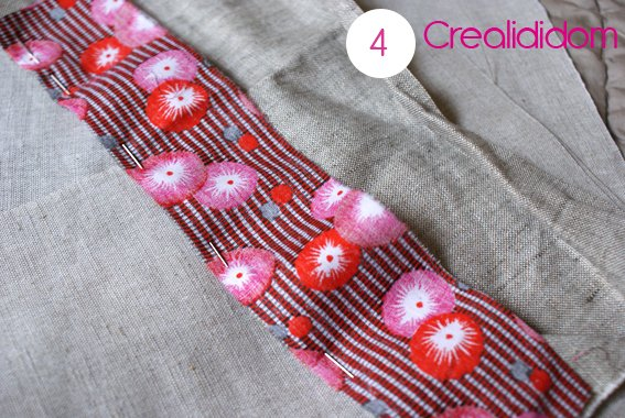 Pochette crochet tissus petit pan étape 4
