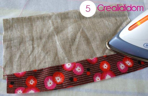 Pochette crochet tissus petit pan étape 5