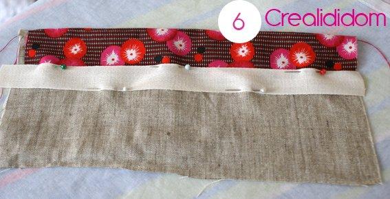 Pochette crochet tissus petit pan étape 6