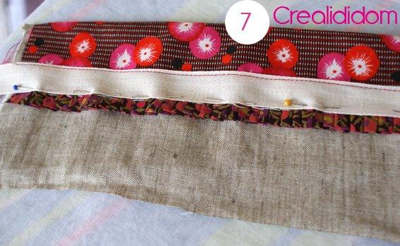 Pochette crochet tissus petit pan étape 7