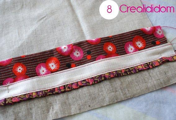 Pochette crochet tissus petit pan étape 8