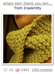 wham bam thank you lamb! neckwarmer by Susan Chang