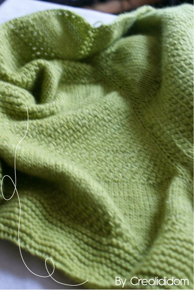 Textured shawl en Malbrigo lace lettuce